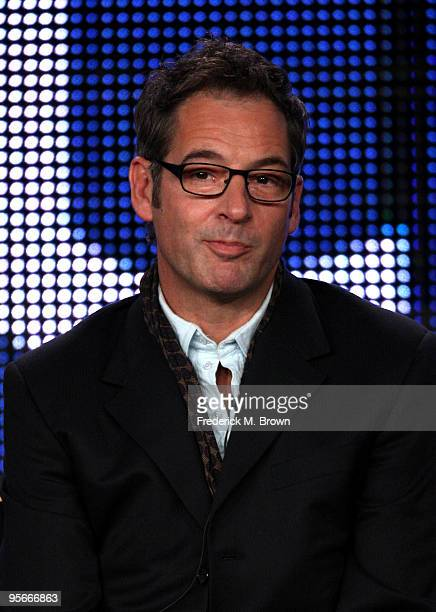 Actor Jeremy Northam speaks onstage at the CBS Miami Medical presentation and QA portion of the 2010 Winter TCA Tour day 1 at the Langham Hotel on...