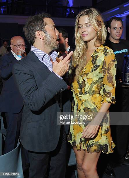 Actor Jeremy Piven and model Cheyenne Tozzi attend the 'Entourage' Season 8 premiere after party at the American Museum of Natural History on July 19...