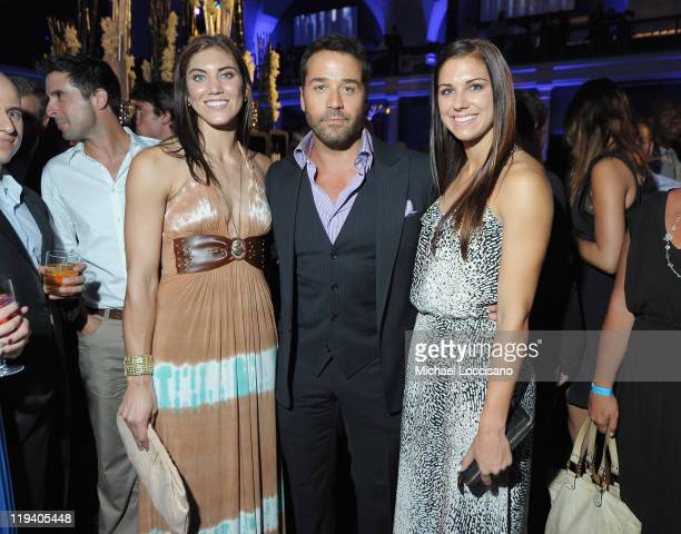 Actor Jeremy Piven and Professional Soccer Players Hope Solo and Alex Morgan attend the Entourage Season 8 premiere after party at the American...
