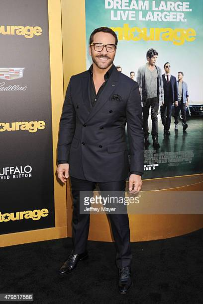 Actor Jeremy Piven arrives at the 'Entourage' Los Angeles premiere at Regency Village Theatre on June 1, 2015 in Westwood, California.