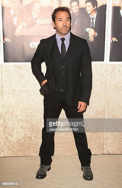 Actor Jeremy Piven arrives at the premiere of HBO's Entourage Season 6 on July 9 2009 in Los Angeles California