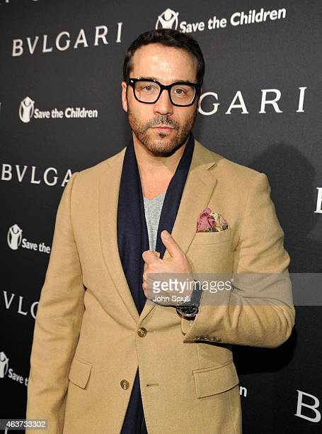 Actor Jeremy Piven attends BVLGARI and Save The Children STOP. THINK. GIVE. Pre-Oscar Event at Spago on February 17, 2015 in Beverly Hills,...