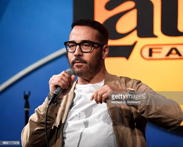 Actor Jeremy Piven performs at the SarcomaOma Foundation Comedy Benefit at The Laugh Factory on June 6 2018 in West Hollywood California