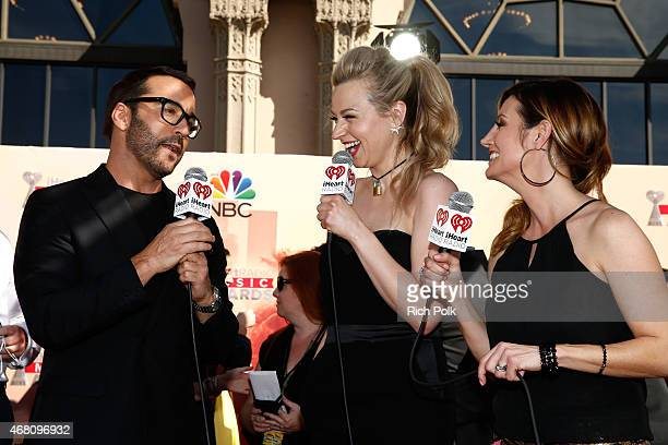 Actor Jeremy Piven, radio personality Bethany Watson and radio personality DanielleMonaro attend the 2015 iHeartRadio Music Awards which broadcasted...