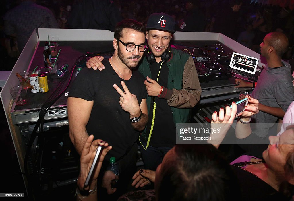 Actor Jeremy Pivens and DJ Vice attend The Maxim Party With 'Gears of War: Judgment' For XBOX 360, FOX Sports & Starter Presented by Patron Tequila at Second Line Warehouse on February 1, 2013 in New Orleans, Louisiana.