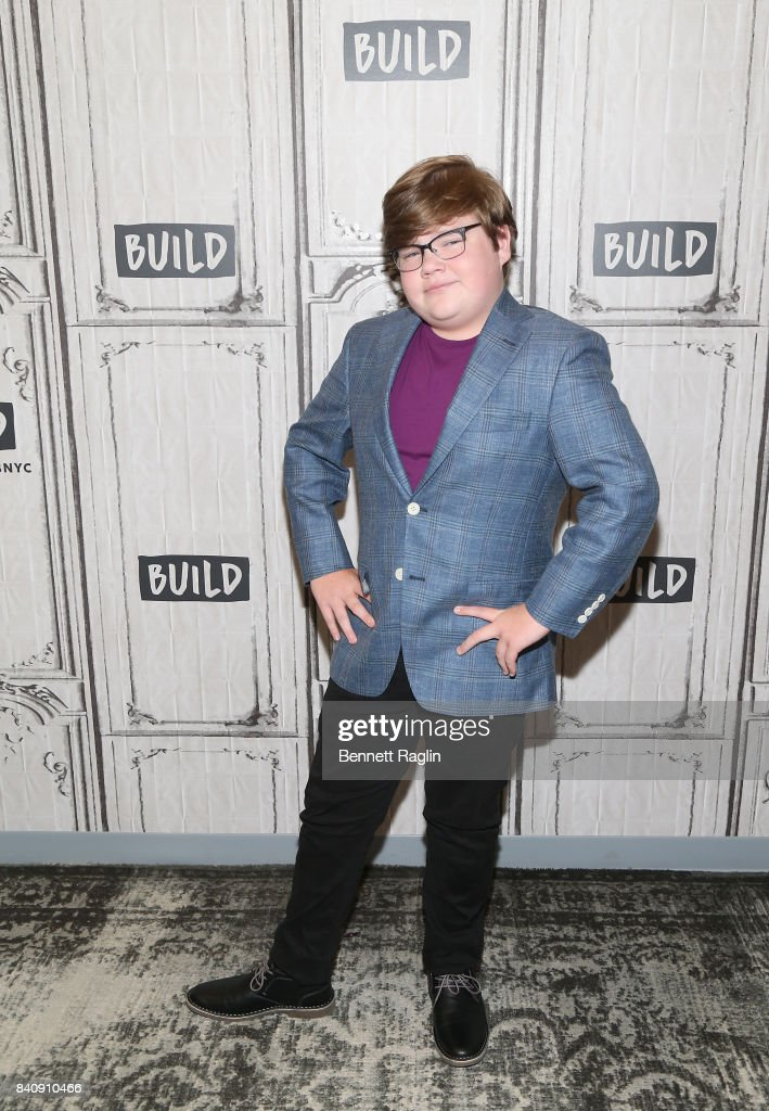 Actor Jeremy Ray Taylor attends Build to discusss the movie 'IT' at Build Studio on August 30, 2017 in New York City.