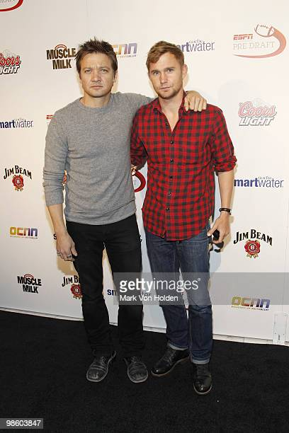 Actor Jeremy Renner and actor Brian Geraghty attend ESPN the Magazine's 7th Annual PreDraft Party at Espace on April 21 2010 in New York City