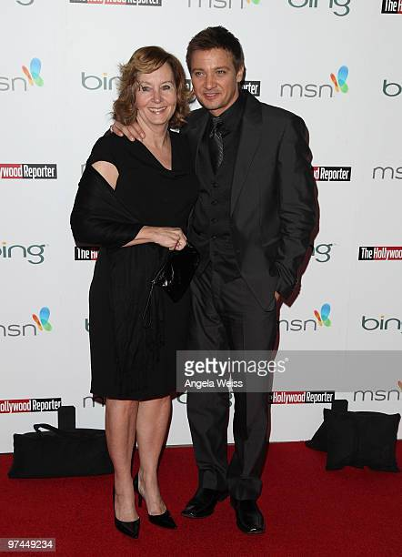 Actor Jeremy Renner and his mother attend The Hollywood Reporter's and the Mayor of Los Angeles' Oscar Nominees' Night presented by Bing and MSN at...