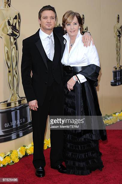Actor Jeremy Renner and his mother Valerie Cearley arrive at the 82nd Annual Academy Awards held at Kodak Theatre on March 7 2010 in Hollywood...
