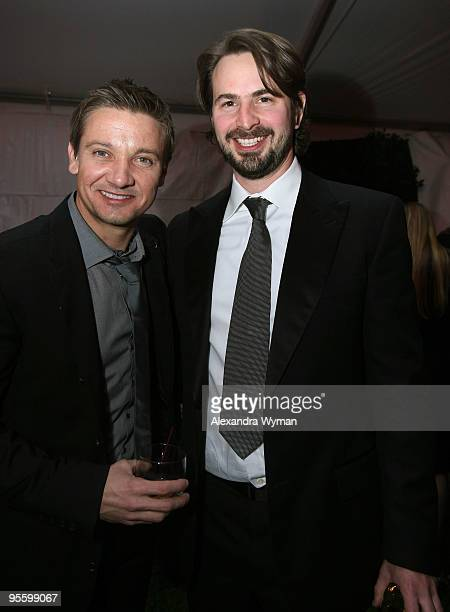Actor Jeremy Renner and writer/producer Mark Boal attend the after party for the 2010 Palm Springs International Film Festival gala held at the...