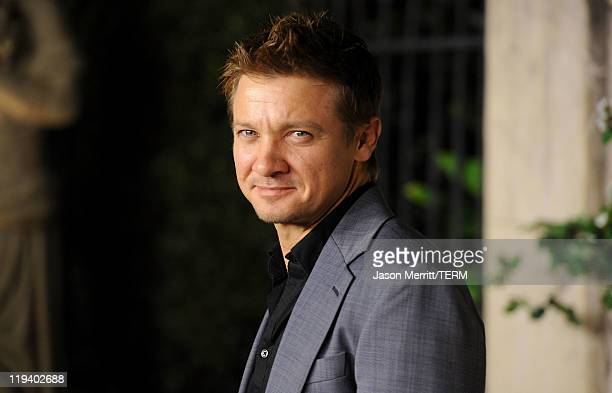 Actor Jeremy Renner arrives at Lucrecia Martel's Muta presented by MIU MIU at a private residence on July 19 2011 in Beverly Hills California