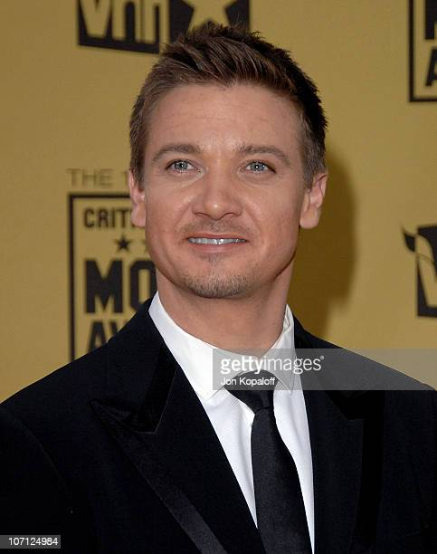 Actor Jeremy Renner arrives at the 15th Annual Critic's Choice Movie Awards at the Hollywood Palladium on January 15 2010 in Hollywood California