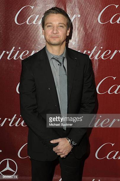 Actor Jeremy Renner arrives at the 2010 Palm Springs International Film Festival gala held at the Palm Springs Convention Center on January 5 2010 in...