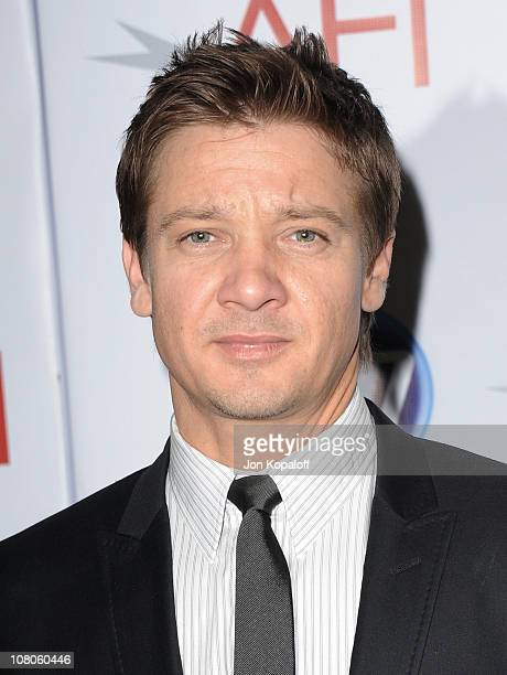 Actor Jeremy Renner arrives at the 2011 AFI Awards at The Four Seasons Hotel on January 14, 2011 in Beverly Hills, California.