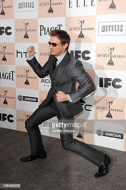 Actor Jeremy Renner arrives at the 2011 Film Independent Spirit Awards at Santa Monica Beach on February 26 2011 in Santa Monica California