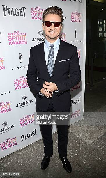 Actor Jeremy Renner arrives at the 2013 Film Independent Filmmaker Grant And Spirit Awards Nominees Brunch at BOA Steakhouse on January 12 2013 in...