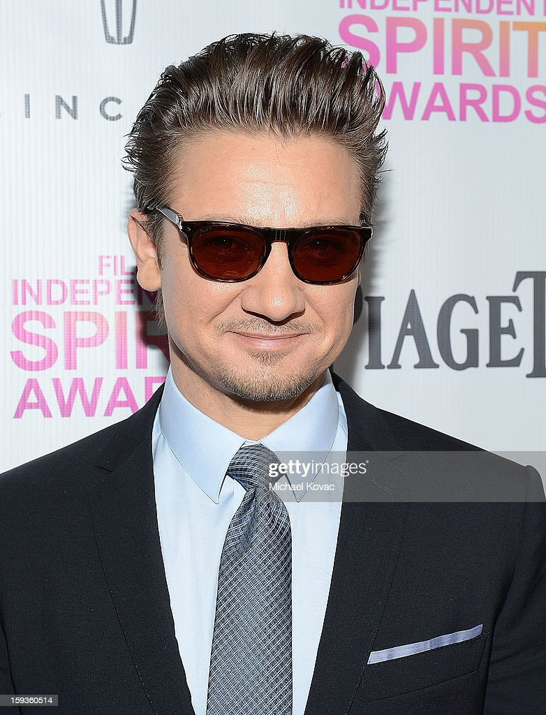 Actor Jeremy Renner arrives at the 2013 Film Independent Filmmaker Grant And Spirit Awards Nominees Brunch at BOA Steakhouse on January 12, 2013 in West Hollywood, California.