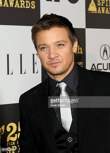 Actor Jeremy Renner arrives at the 25th Film Independent's Spirit Awards held at Nokia Event Deck at LA Live on March 5 2010 in Los Angeles California