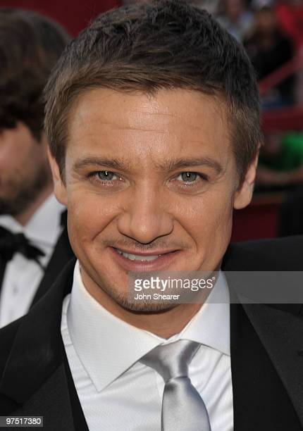 Actor Jeremy Renner arrives at the 82nd Annual Academy Awards held at Kodak Theatre on March 7 2010 in Hollywood California