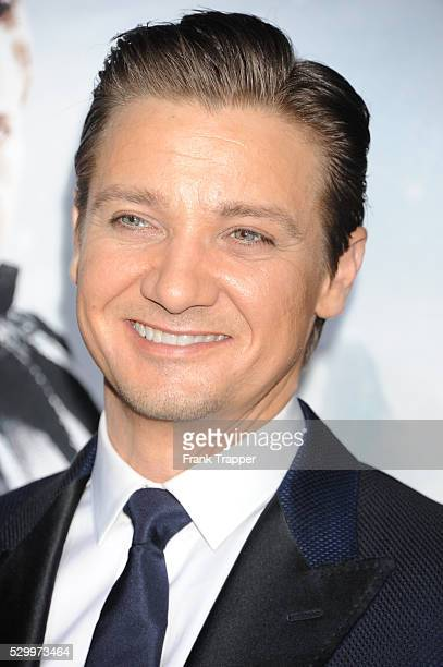 Actor Jeremy Renner arrives at the premiere of Hansel Gretel Witch Hunters held at Grauman's Chinese Theater in Hollywood