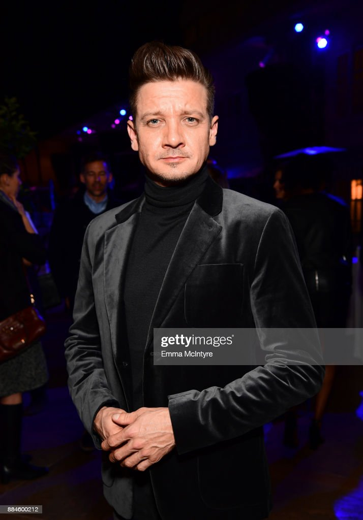 Actor Jeremy Renner attends a cocktail party for 'Wind River' at Circa 55 Restaurant on December 2, 2017 in Los Angeles, California.