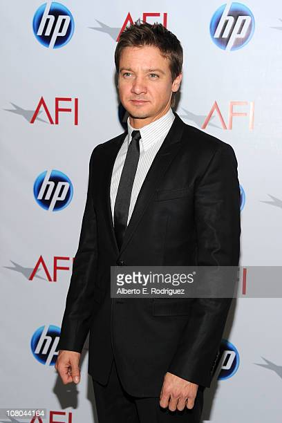 Actor Jeremy Renner attends the 2010 AFI Awards at The Four Seasons Hotel on January 14 2011 in Los Angeles California