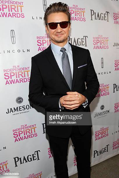 Actor Jeremy Renner attends the 2013 Film Independent Filmmaker Grant And Spirit Award Nominees Brunch at BOA Steakhouse on January 12 2013 in West...