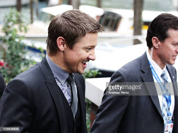 Actor Jeremy Renner attends the 67th Venice Film Festival on September 8 2010 in Venice Italy