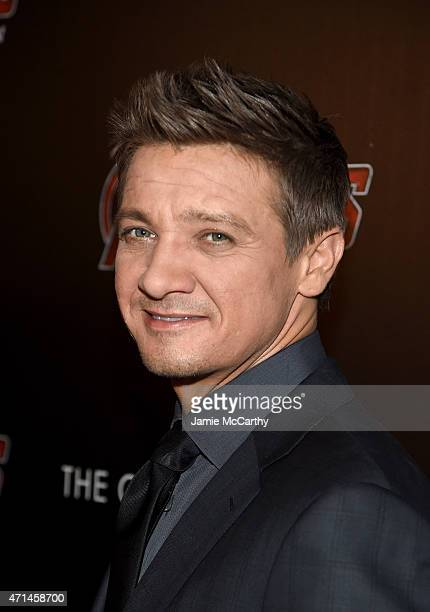 Actor Jeremy Renner attends The Cinema Society Audi screening of Marvel's 'Avengers Age of Ultron' on April 28 2015 in New York City