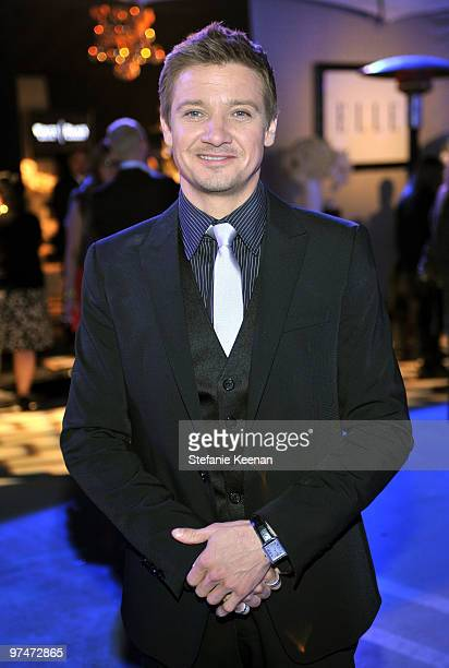 COVERAGE** Actor Jeremy Renner attends the ELLE Green Room at the 25th Film Independent Spirit Awards held at Nokia Theatre LA Live on March 5 2010...