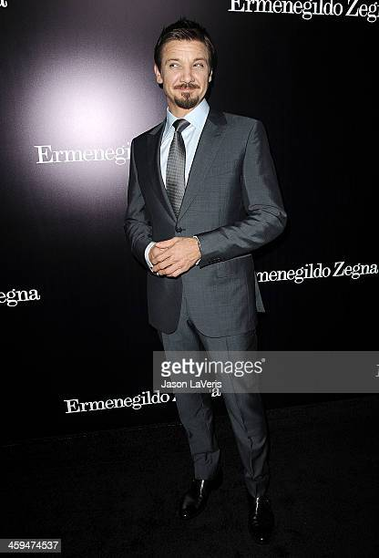Actor Jeremy Renner attends the Ermenegildo Zegna Boutique grand opening on November 7, 2013 in Beverly Hills, California.