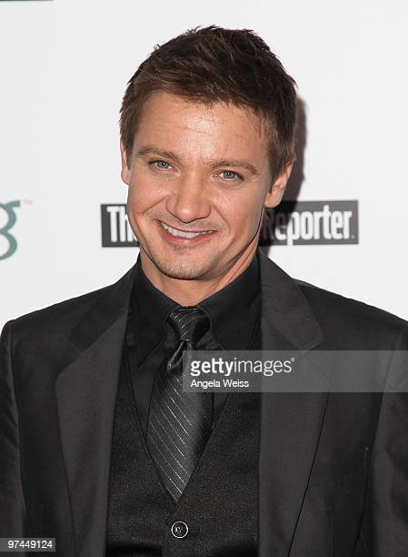 Actor Jeremy Renner attends The Hollywood Reporter's and the Mayor of Los Angeles' Oscar Nominees' Night presented by Bing and MSN at The Getty House...