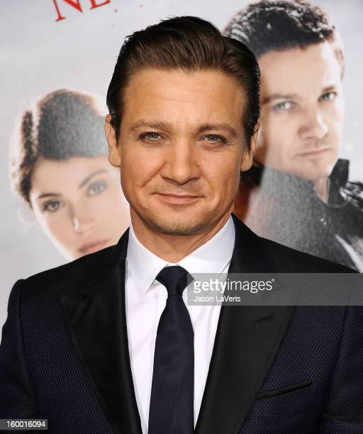 Actor Jeremy Renner attends the premiere of 'Hansel Gretel Witch Hunters' at TCL Chinese Theatre on January 24 2013 in Hollywood California