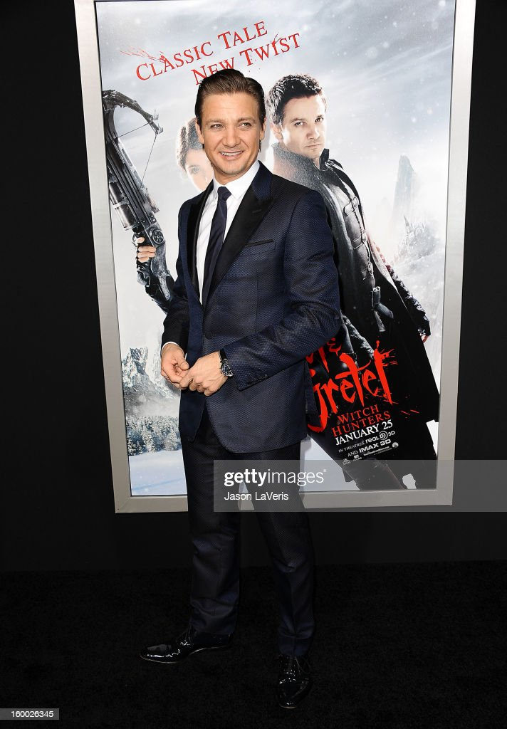 Actor Jeremy Renner attends the premiere of 'Hansel & Gretel: Witch Hunters' at TCL Chinese Theatre on January 24, 2013 in Hollywood, California.