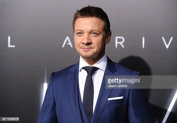 Actor Jeremy Renner attends the premiere of Paramount Pictures' Arrival at Regency Village Theatre on November 6 2016 in Westwood California