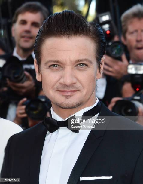 Actor Jeremy Renner attends the premiere of 'The Immigrant' at The 66th Annual Cannes Film Festival on May 24 2013 in Cannes France