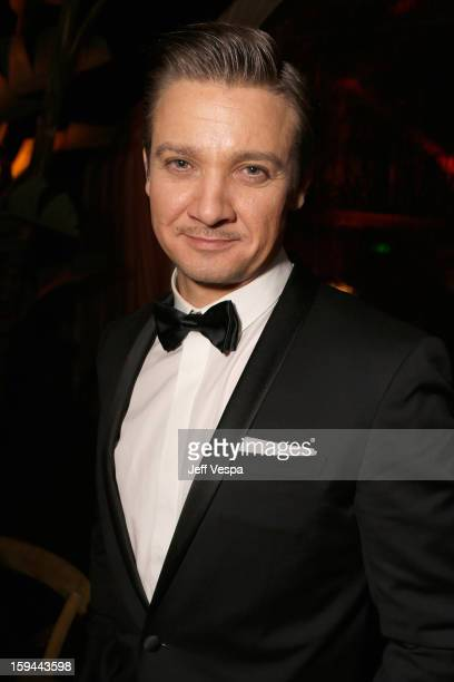 Actor Jeremy Renner attends the The Weinstein Company's 2013 Golden Globe Awards after party presented by Chopard HP Laura Mercier Lexus Marie Claire...