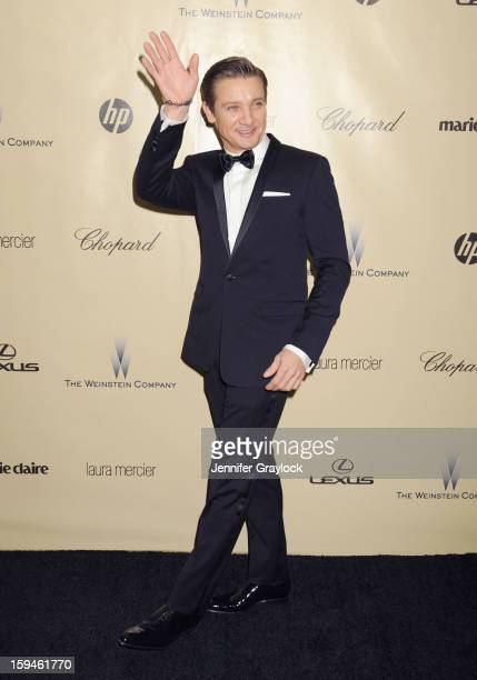 Actor Jeremy Renner attends The Weinstein Company's 2013 Golden Globes After Party held at The Old Trader Vic's in The Beverly Hilton Hotel on...