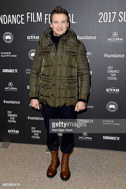 Actor Jeremy Renner attends the Wind River premiere on day 3 of the 2017 Sundance Film Festival at Eccles Center Theatre on January 21 2017 in Park...
