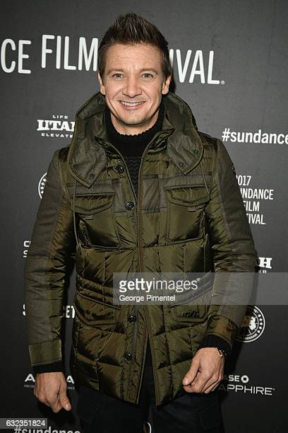 Actor Jeremy Renner attends the 'Wind River' premiere on day 3 of the 2017 Sundance Film Festival at Eccles Center Theatre on January 21 2017 in Park...