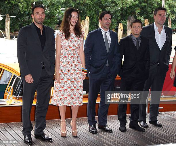 Actor Jeremy Renner director Ben Affleck actress Rebecca Hall and Actor Jon Hamm attend the 67th Venice Film Festival on September 8 2010 in Venice...