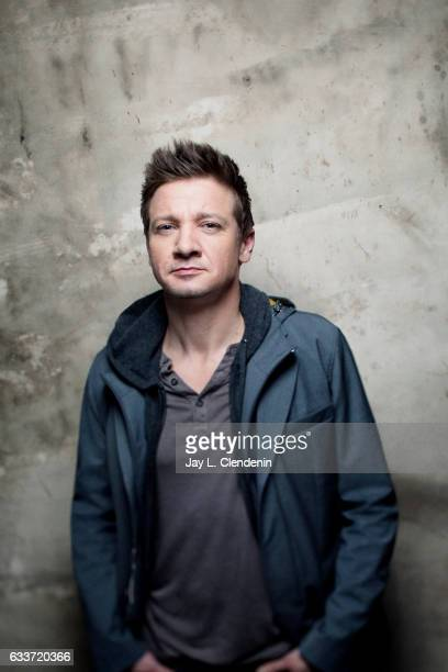 Actor Jeremy Renner from the film Wind River is photographed at the 2017 Sundance Film Festival for Los Angeles Times on January 22 2017 in Park City...