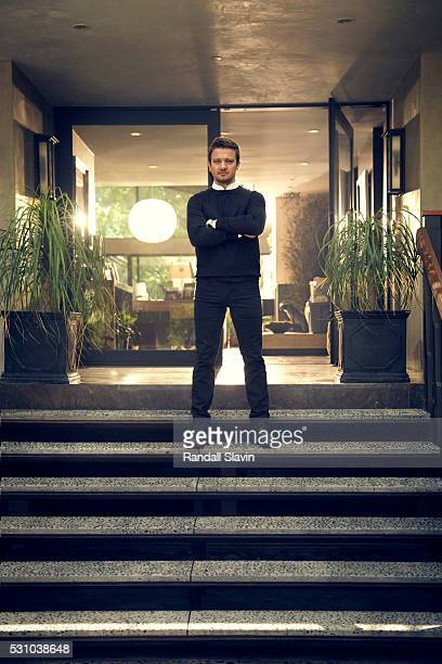 Actor Jeremy Renner is photographed for Robb Report on March 12 2016 in Hollywood California