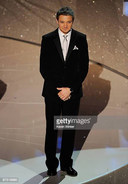 Actor Jeremy Renner onstage during the 82nd Annual Academy Awards held at Kodak Theatre on March 7 2010 in Hollywood California