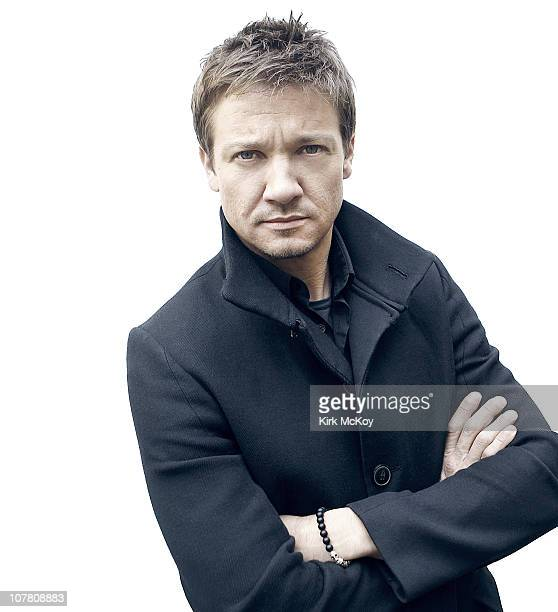 Actor Jeremy Renner poses at a portrait session for the Los Angeles Times on December 23 2010 in Los Angeles California Published Image CREDIT MUST...