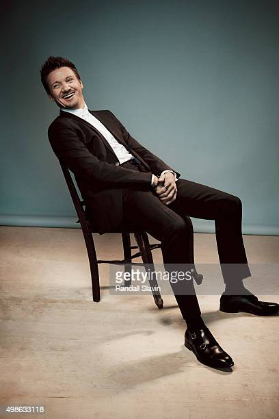 Actor Jeremy Renner poses for a portrait at the 2015 American Music Awards on November 22 2015 in Los Angeles California