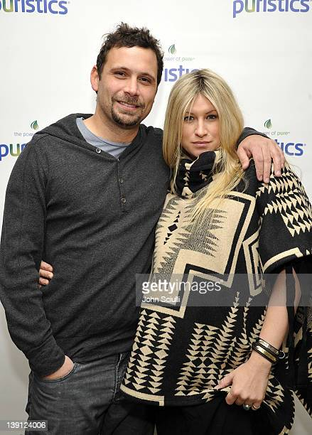 Actor Jeremy Sisto and Addie Lane attend a launch party for new skincare line Puristics at a private residence on February 16 2012 in Los Angeles...