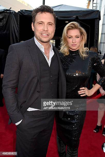 Actor Jeremy Sisto and Addie Lane attend the 2015 American Music Awards at Microsoft Theater on November 22 2015 in Los Angeles California