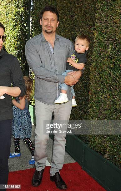 Actor Jeremy Sisto and children Charlie Ballerina Sisto Bastian Kick Sisto attends the John Varvatos 10th Annual Stuart House Benefit held at John...