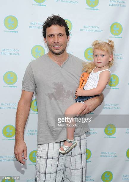 Actor Jeremy Sisto and daughter Charlie Ballerina attend the 10th Anniversary Baby Buggy Bedtime Bash at the Victorian Gardens at Wollman Rink...
